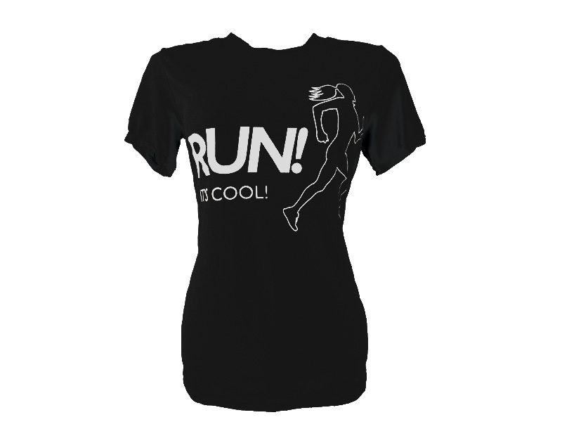 Coolshirt Baby Look Run It's Cool Preto